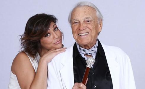 Giorgio Albertazzi e Elena Coniglio