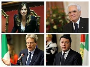 Boschi Mattarella Gentiloni Renzi