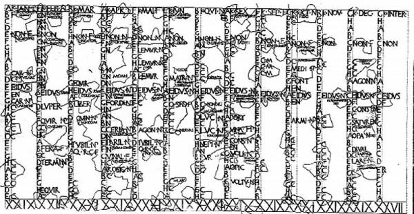 Calendario Antico.Calendario Romano 600x310 Cesare Lanza